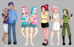My Little Humans lineup 5 by Emberfan11