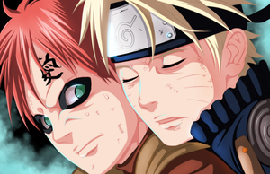 Naruto and Garaa (dont die on me ) by grimmpanda