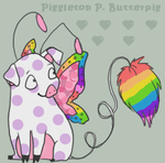 Piggleton P. Butterpig by Rainbow-Kisses