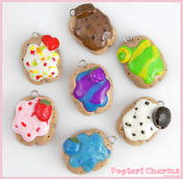 Poptart Clay Charms by Comsical