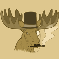 A very dapper gentlemoose, indeed. by Wela-Inomae