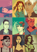 palette portraits pt.1 by fooltofancy