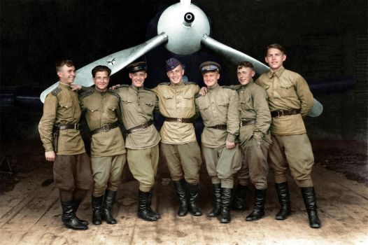 Pilots of the 102th Guards Fighter Aviation Regime by klimbims