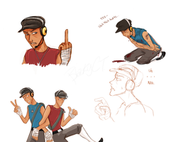 TF2 Scout Doodles by BlackyCT