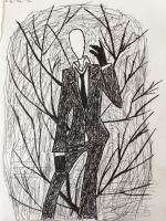 Slender in the Forest by CityBloop