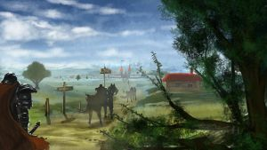 Arayon Landscape And Knights by Brollonks