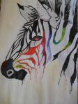 a colourful zebra by blackkpearl