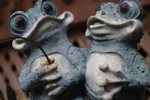 Frogs in Love by 1madhatter