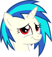 Vinyl Scratch - Proud moment (red eyes) by namelesshero2222