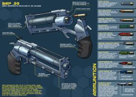 Sci-fi revolver final by PenUser
