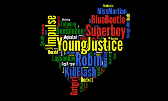 Young Justice Word Art by zutara-canon