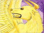 ACEO: Golden Borzoi by Cheetahbird