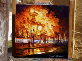 old painting 101 by Leonid Afremov by Leonidafremov