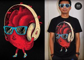 heartBEAT tee by dzeri