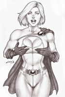 POWERGIRL, SALE ON E-BAY AUCTION NOW !!! by carlosbragaART80