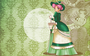 Vintage Lady Chibiusa - green wallpaper by selinmarsou