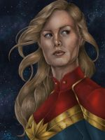 Brie Larson as Captain Marvel by JGiampietro