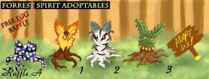 Forest Spirit Adoptables 1 OPEN by AeternaAdoptables
