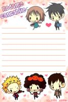 nodame cantabile letter paper by HiROBii