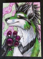 ACEO Sparkling Paw by Sysirauta