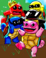 Squirtle Rangers by SunsetPhoenix