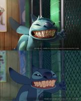 Paintover Lilo  Stich by zecarlos