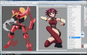Kallen Kozuki Project WIP by TigerNightHawk