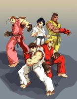 Street Fighter: Gi Team by jdvART