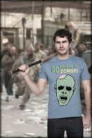 T shirt zombie by motov3x