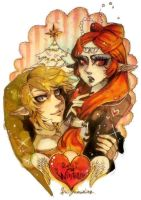 Link and princess Midna by Sui-yumeshima