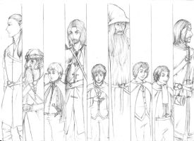 The Fellowship Of The Ring - Sketch by Whiterisu