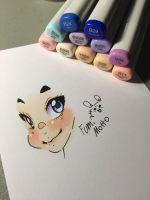 Working with copic by FumiMoto
