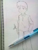 A few minutes sketching - Male OC by alfi-ramadhani