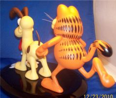 Garfield and Odie Painted 3 by Spanglerart