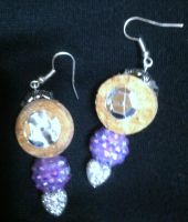 Lavender and Cork Earrings by LauraLawless