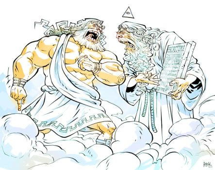 Zeus vs Deus by rogercruz