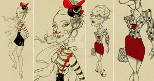fashion illustration by asyerart
