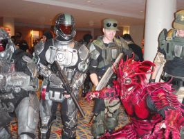 Dragon Lord with ODST by Red-Dragon-Lord
