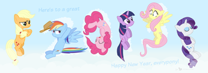 The Mane Six in '2013' by dm29