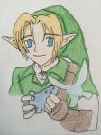 Link with ocarina and Navi by Linkmastersword456