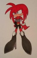 Amber the Echidna by ArtKing3000