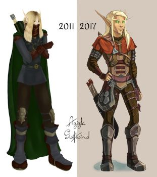 Elven Before-and-After by AzizlaSwiftwind