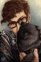 Sam and Puppy by muepin