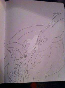 sonic and toothless by superdupertails