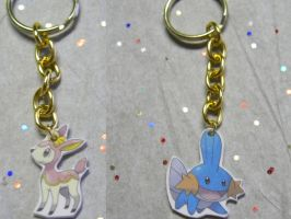 Single Pokemon Keychain by kouweechi