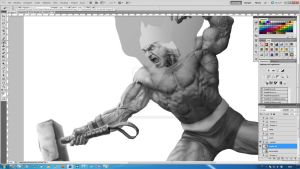 Thor -new digital painting experiment- [step6] by aRmydesigner