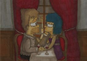HomerAndMarge-Romantic Dinner by ChnProd22