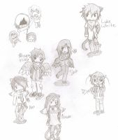 Maximum Academy Chibis by KitsPokePeople