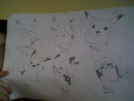 My Pikachu Drawings by funswifty22