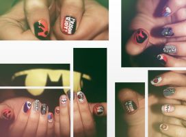 Suicide Squad Nail Art by KariInlove